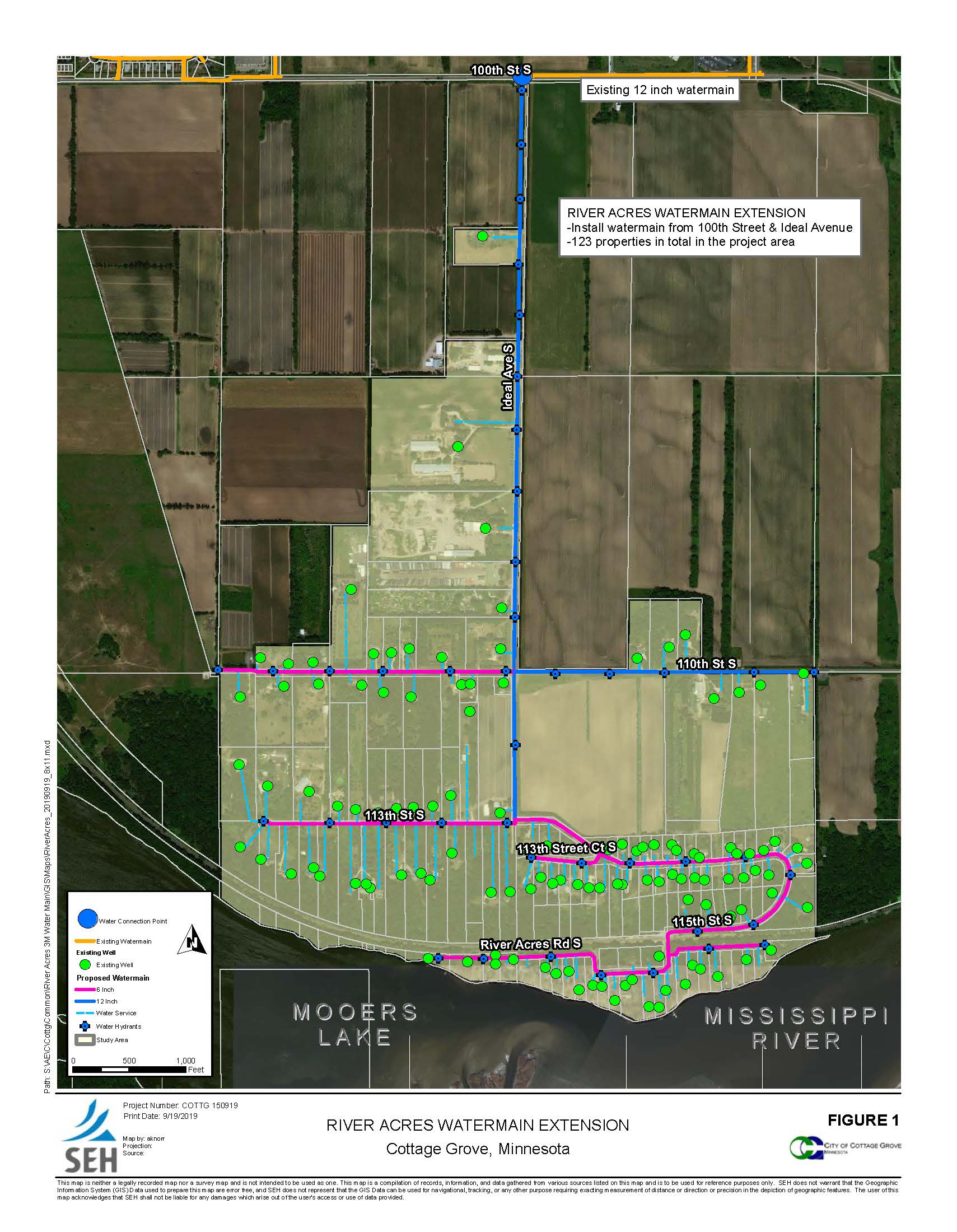 River Acres Water Main Extension Map